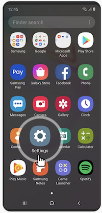 settings on samsung android phone